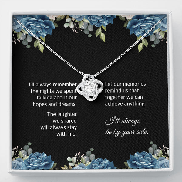 By Your Side Love Knot Friendship Necklace