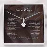 Love Wins Hers and Hers Alluring Necklace