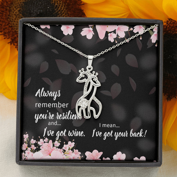 Resilient Hearts Giraffe Best Friend Necklace