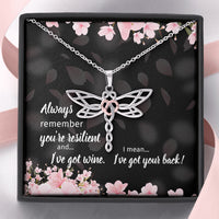 Resilient Hearts Dragonfly Best Friend Necklace
