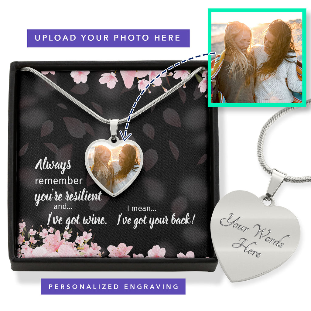 Resilient Hearts Personalized Photo Heart Necklace