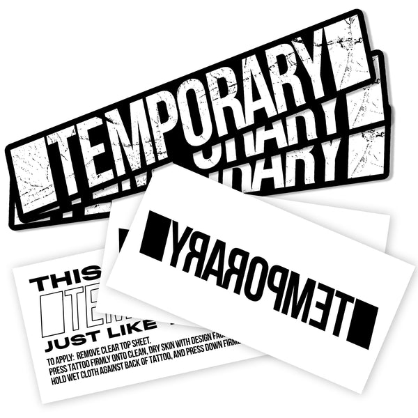 'TEMPORARY' Sticker + Tattoo Pack