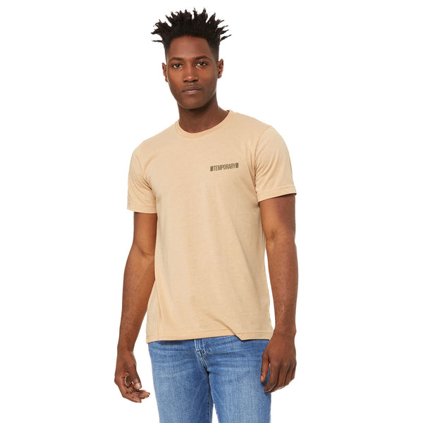 SOLD OUT 'TEMPORARY' Tee - Sand Dune