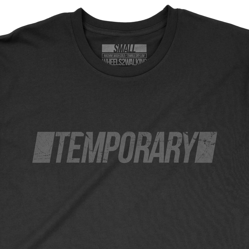 'TEMPORARY' Tee - Black