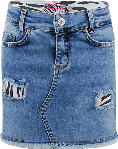 Mädchen Jeans Rock Light Blue Destroyed 1201-3219