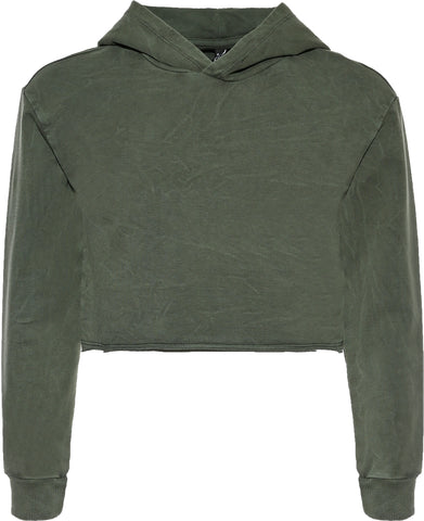 Mädchen Pullover 5615-Girls Boxy Hoodie SG Army green used