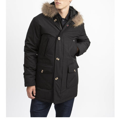 Jungen Winterjacke Wintermantel Manitoba Fake Fur Black