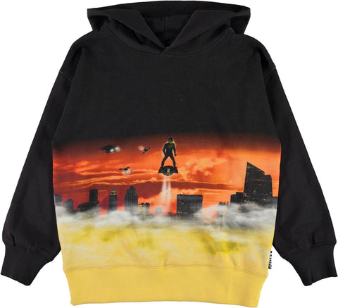 Jungen Pullover Hoodie Mozzy Above The City