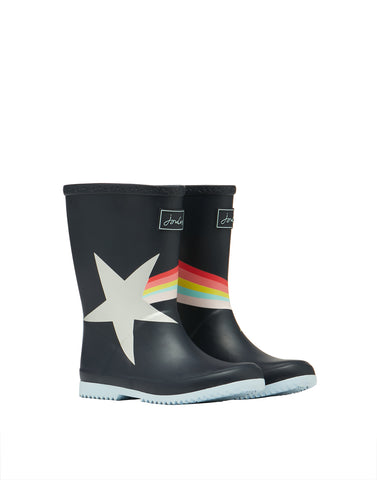 Mädchen Gummistiefel Junior Welly Navy Star 209841