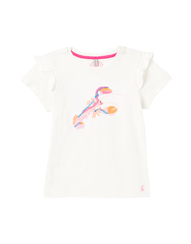 Mädchen T-Shirt Gaze White Lobster 212041