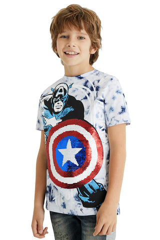 Jungen T-Shirt TS Captain White
