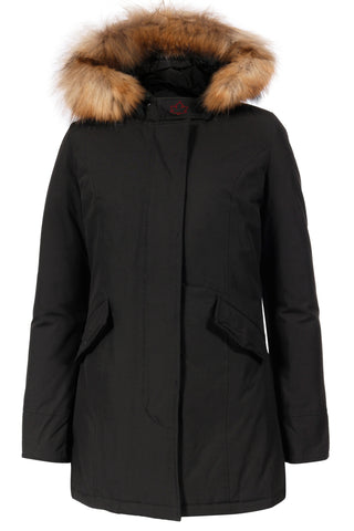 Mädchen Winterjacke Wintermantel Fundy Bay Fake Fur Black
