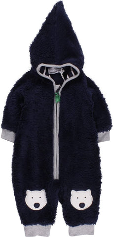 Jungen Baby Einteiler Bear Fleece Suit
