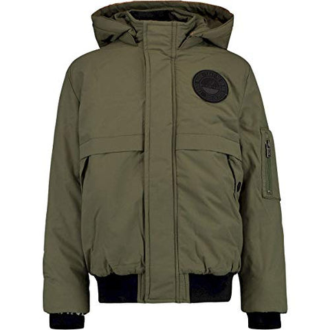 Jungen Winterjacke Bomberjacke Theigo Army Green