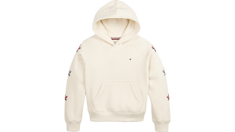 Mädchen Tommy On Tour Graphic Hoodie KG0KG05486 Ivory