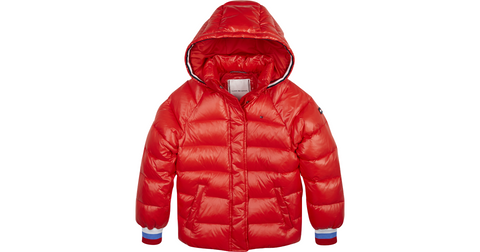 Mädchen Winterjacke High Shine Puffer Racing Red KG0KG04596