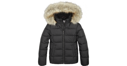 Mädchen Winterjacke Essential Basic Down Jacket KG0KG04682 Black