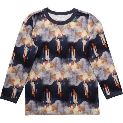 Jungen Langarmshirt Space Photo Tee