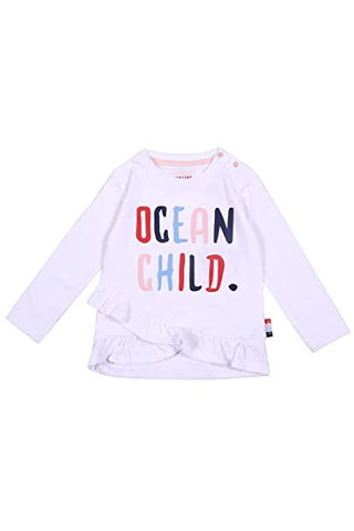 Mädchen Baby Langarm Shirt June Real White