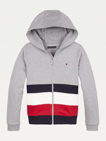 Jungen Sweatjacke Global Stripe Colorblock Fullzip
