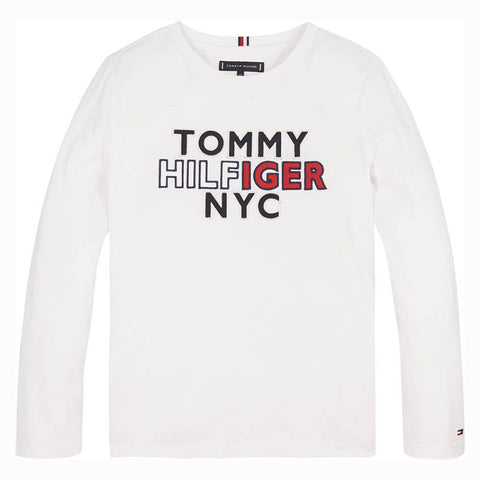 Jungen TH NYC TEE TEE L/S KB0KB05859 White