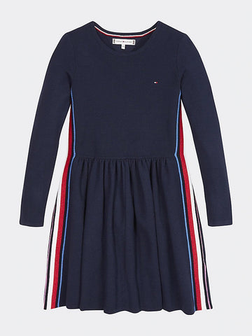 Mädchen Kleid Global Stripe Sweater Dress KG0KG04750