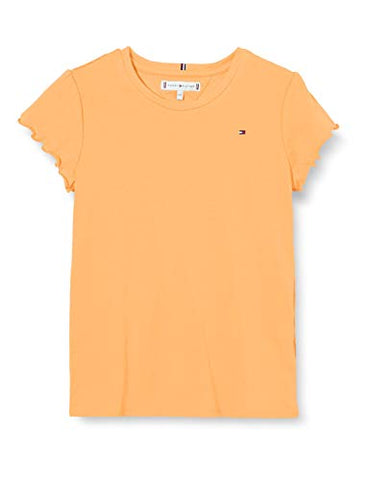 Mädchen T-Shirt Essential Ruffle Sleeve Top S/S KG0KG05083 Orange