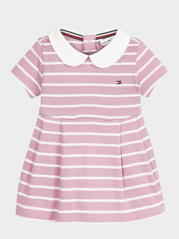 Mädchen Kleid Baby Rugby Stripe Dress S/S KN0KN01087 Sea Pink