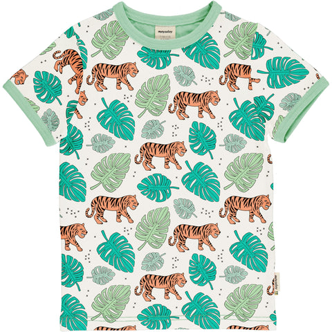 Jungen T-Shirt Top SS Tiger Jungle