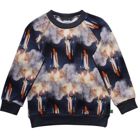 Jungen Pullover Space Photo Sweat Shirt Midnight