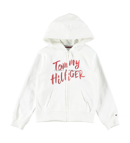 Mädchen Zip Hoodie Graphic Zip Through Sweatjacke KG0KG05043