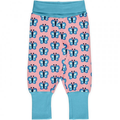 Baby Mädchen Rib Pants Pumphose Bluewing Butterfly