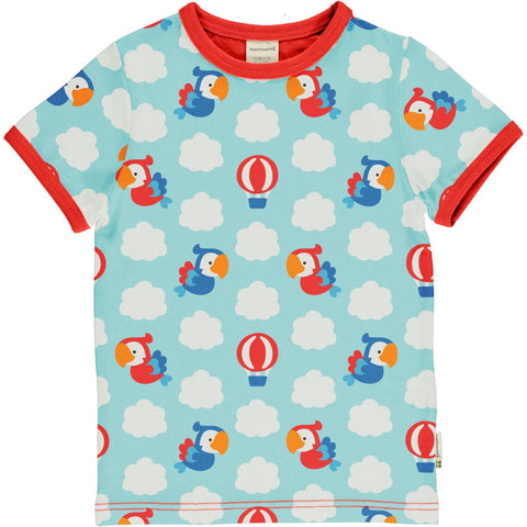 Jungen T-Shirt Top SS Parrot Safari