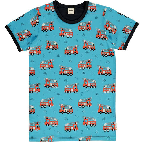 Jungen T-Shirt Top SS Fire Trucks