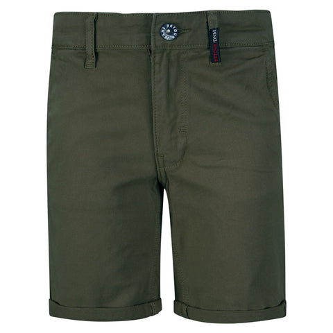 Jungen Chino Shorts Stanley Mid Army