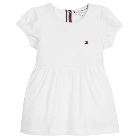 Mädchen Kleid Baby Girl Ajour Dress S/S Bright White KN0KN01083