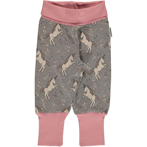 Baby Mädchen Rib Pants Pumphose Unicorn Dreams