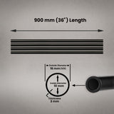 "900mm (36"") Length Aluminium Precision Tube 16mm (5/8) SET"