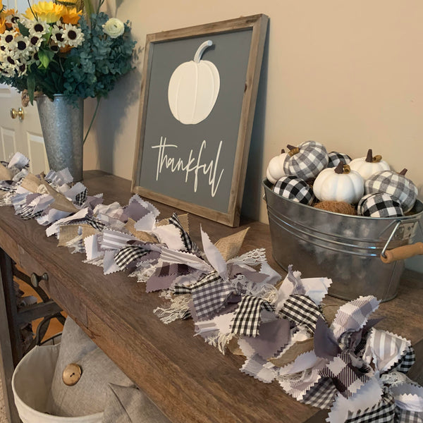 Modern Farmhouse Rag Tie Garland