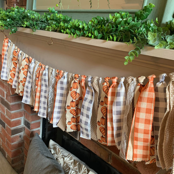 Pumpkin Ribbon Garland