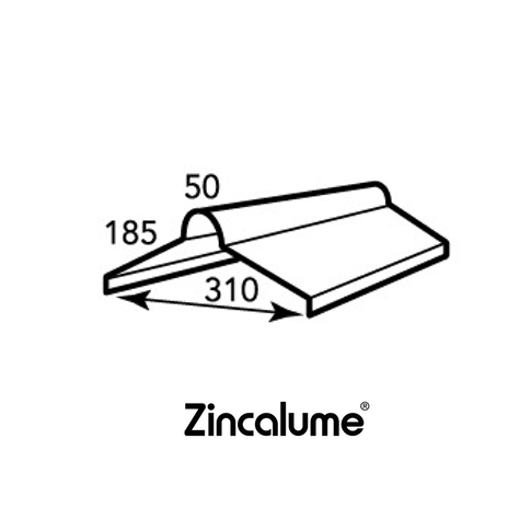 ZINCALUME® Roll Top Ridge Capping .42 BMT
