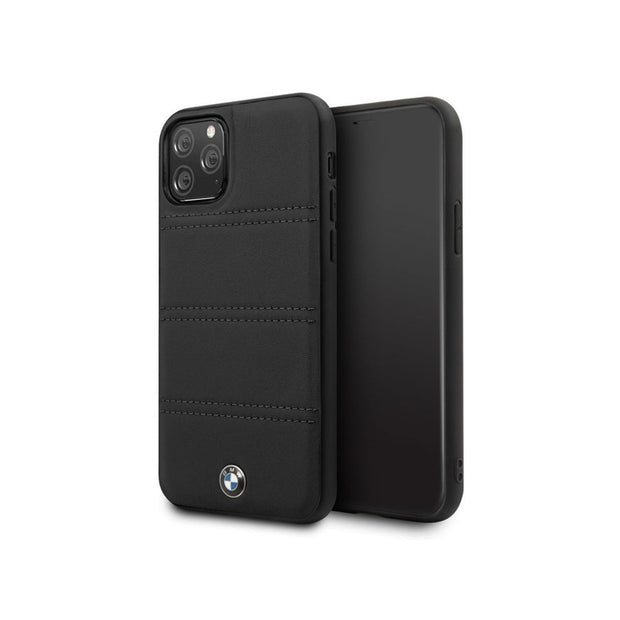 BMW - Leather Hard Case iPhone 11 Pro (BMHCNPELBK)-Accessories-BMW-Black-iPhone 11 Pro-Starlink Qatar
