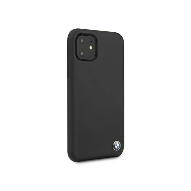 BMW - Silicone Case with M Logo iPhone 11 Pro / Pro Max (BMHCNMSIL)-Accessories-BMW-Black-iPhone 11 Pro Max-Starlink Qatar