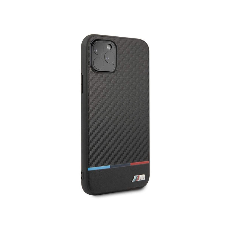 BMW - Hard Case with Tri-Color Stripe iPhone 11 Pro Max (BMHCNPUCART)-Accessories-BMW-Black-iPhone 11 Pro Max-Starlink Qatar