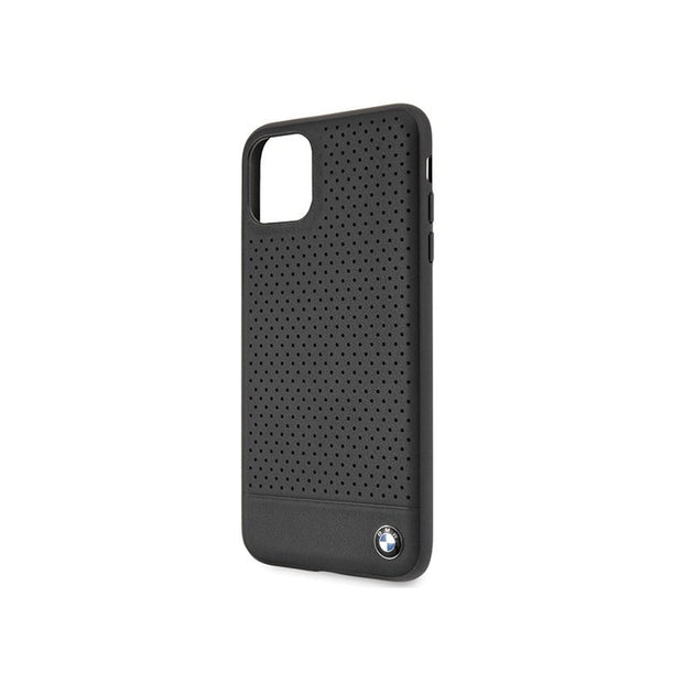 BMW - Leather Hard Case (BMHCNPEBO)-Accessories-BMW-Black-iPhone 11 Pro Max-Starlink Qatar