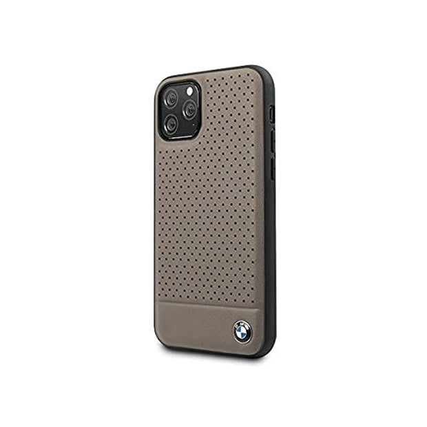 BMW - Leather Hard Case (BMHCNPEBO)-Accessories-BMW-Brown-iPhone 11 Pro Max-Starlink Qatar