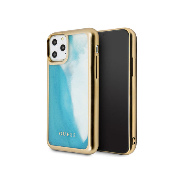 GUESS - Glow In The Dark Hard Case iPhone 11 Pro / Pro Max (GUHCNGLTR)-Accessories-Guess-Gold/Blue-iPhone 11 Pro-Starlink Qatar