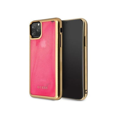 GUESS - Glow In The Dark Hard Case iPhone 11 Pro / Pro Max (GUHCNGLTR)-Accessories-Guess-Gold/Pink-iPhone 11 Pro Max-Starlink Qatar