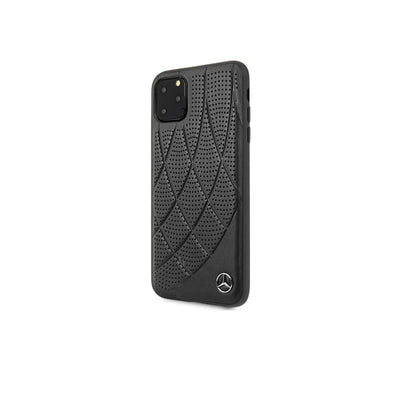 Mercedes Benz - Genuine Leather Hard Case (MEHCNDIQ)-Accessories-Mercedes Benz-Black-iPhone 11 Pro Max-Starlink Qatar