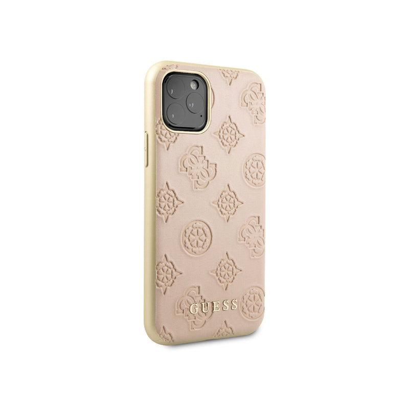 GUESS - Peony Leather Hard Case iPhone 11 Pro Max (GUHCNPEL)-Accessories-Guess-Light Pink-iPhone 11 Pro Max-Starlink Qatar